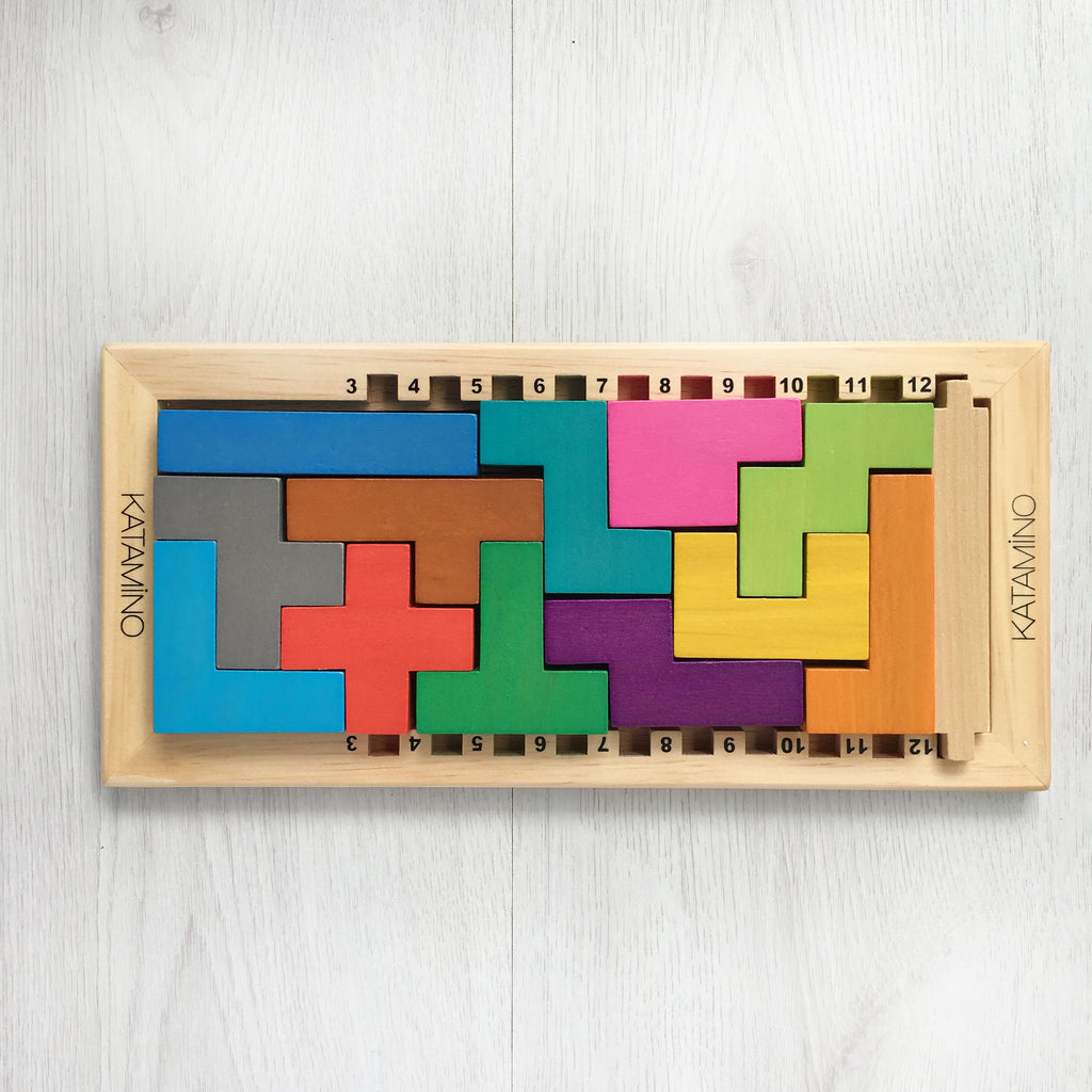 Katamino Wooden 3D Puzzle Tiny Paper Co.