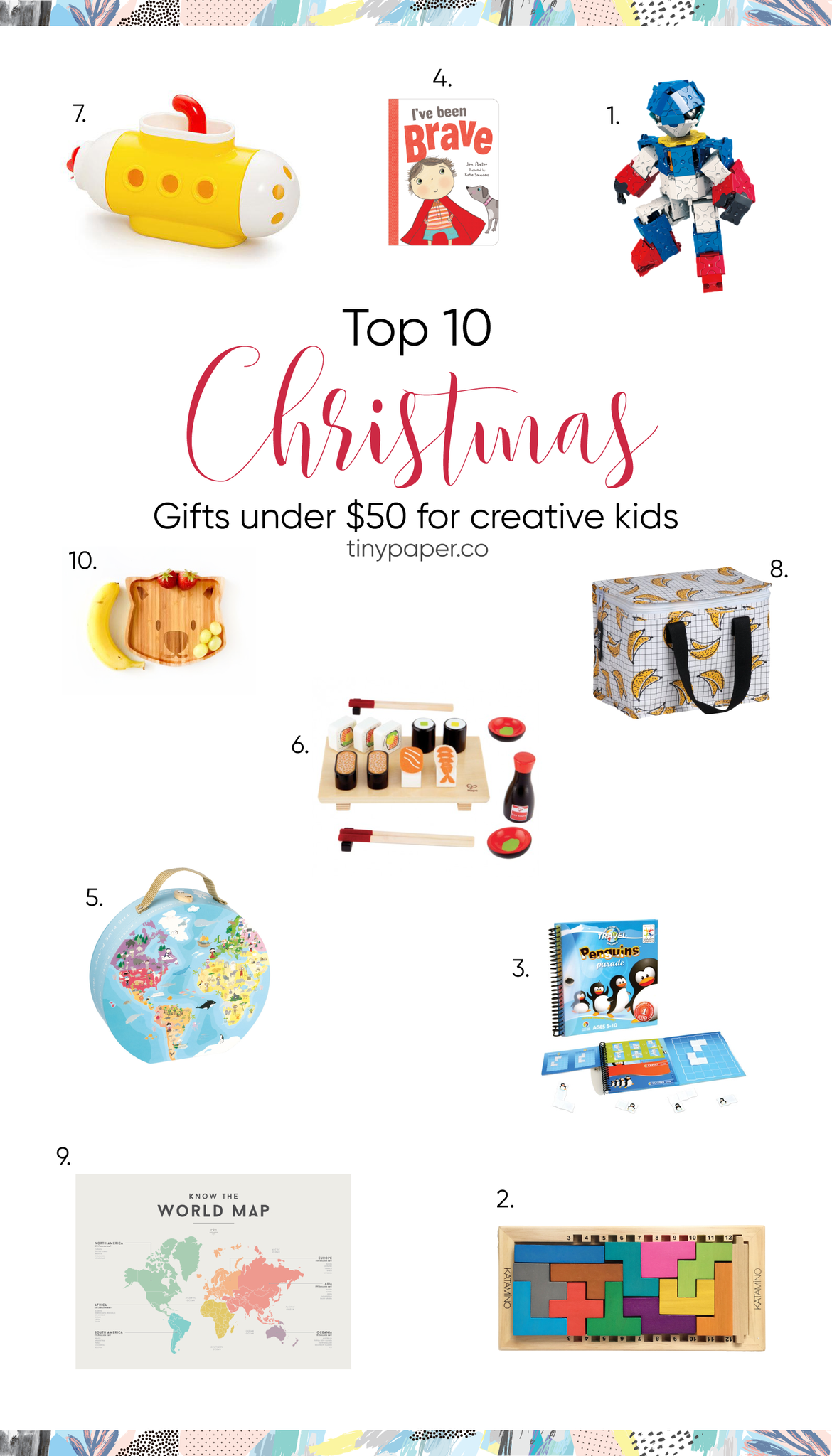 Top 10 Christmas Gifts Under $50 for Creative Kids | Tiny Paper Co.