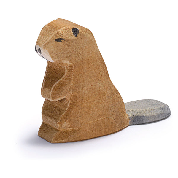 Ostheimer Beaver Figurine - Animals of Forest & Meadow - Ostheimer - Tiny Paper Co. Afterpay Toy Store Australia