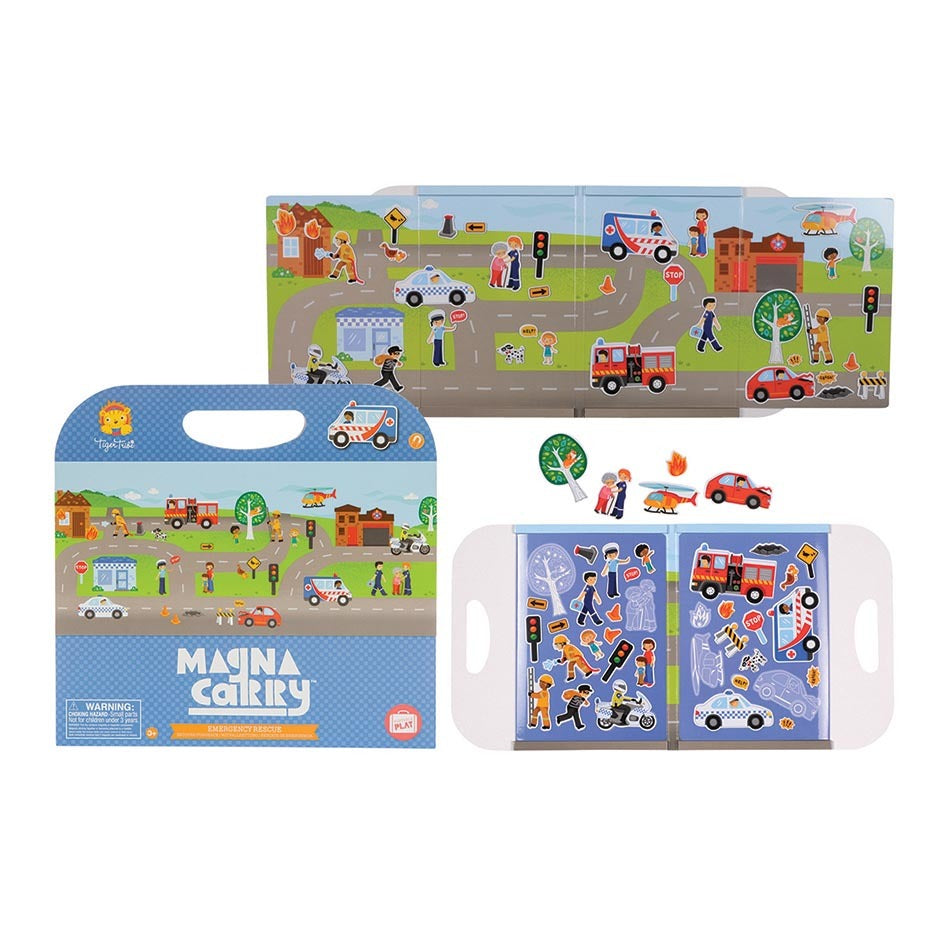 Magna Carry Emergency Rescue - Tiger Tribe - Tiny Paper Co. Afterpay Toy Store Australia