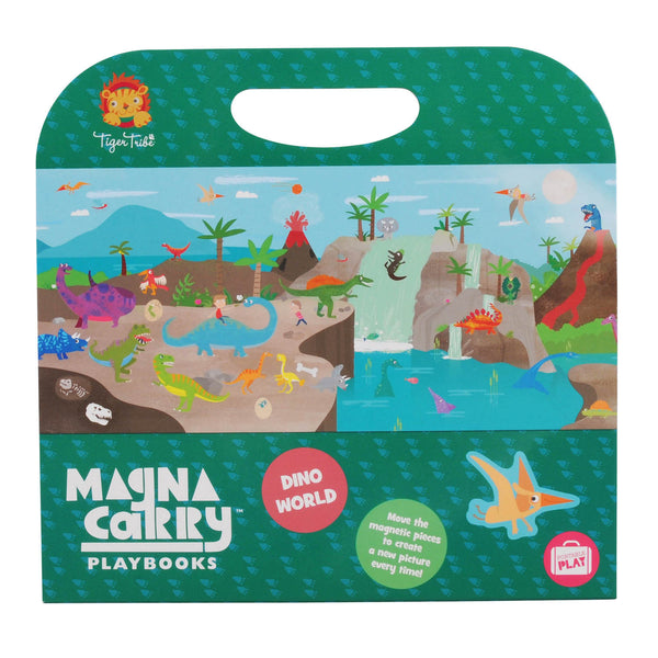 Magna Carry Dino World - Tiger Tribe - Tiny Paper Co. Afterpay Toy Store Australia