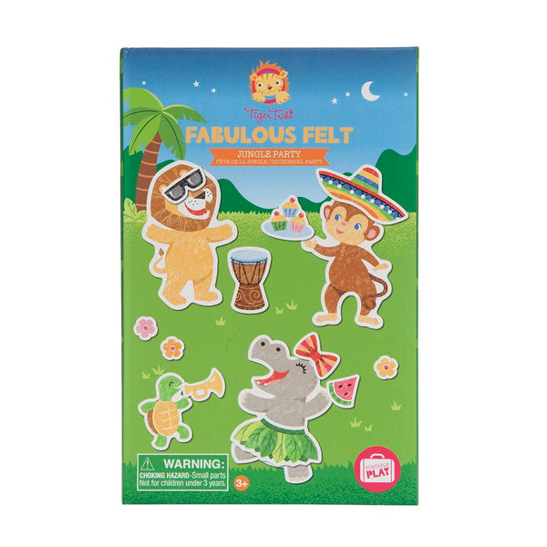 Fabulous Felt Jungle Party Activity Set - Tiger Tribe - Tiny Paper Co. Afterpay Toy Store Australia