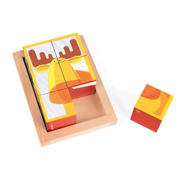 6 Forest Block Wooden Puzzle-Puzzle-Janod-Tiny Paper Co-Afterpay-Australia-Toy-Store - Janod - Tiny Paper Co. Afterpay Toy Store Australia