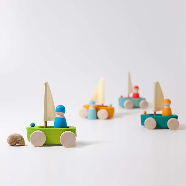Grimm's Little Land Yacht - Grimm's Spiel and Holz - Tiny Paper Co. Afterpay Toy Store Australia
