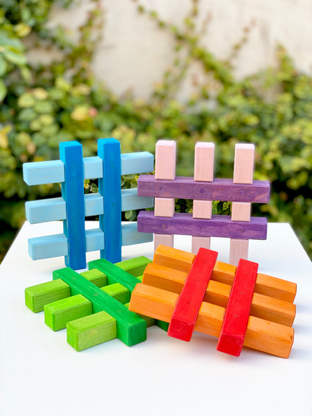 Bauspiel Coloured Grids 4pc - Bauspiel - Tiny Paper Co. Afterpay Toy Store Australia