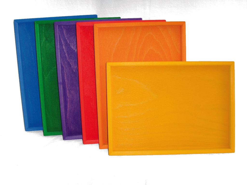 Bauspiel Trays 6 pc - Bauspiel - Tiny Paper Co. Afterpay Toy Store Australia