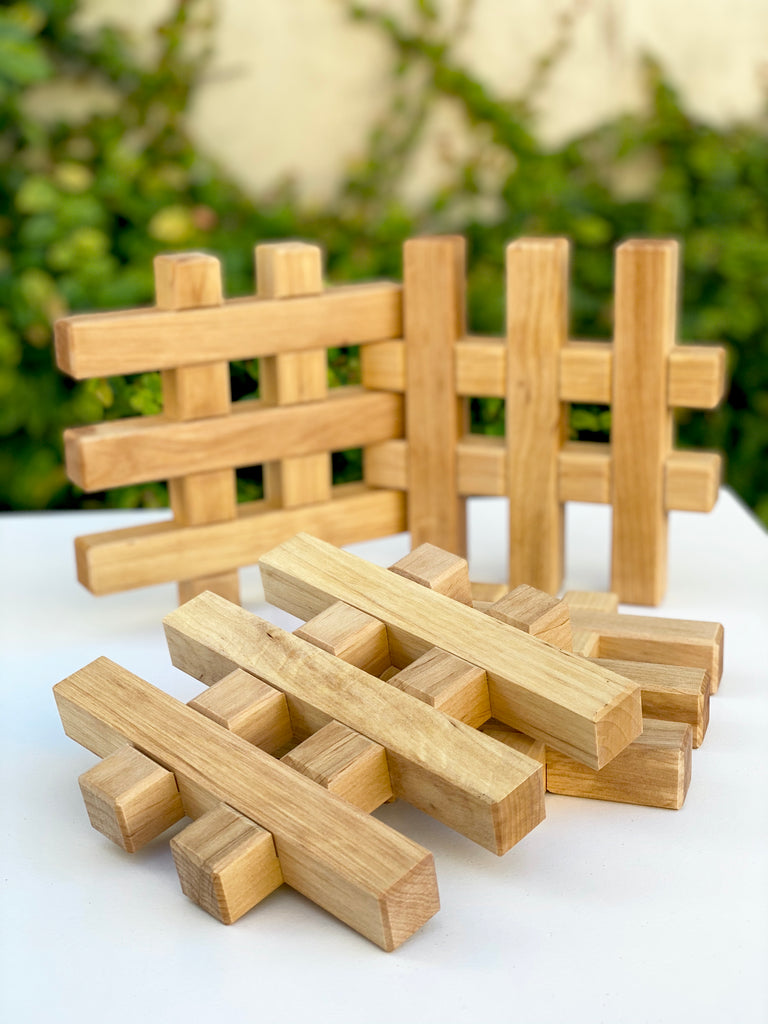 Bauspiel Grids Natural 4pc - Bauspiel - Tiny Paper Co. Afterpay Toy Store Australia