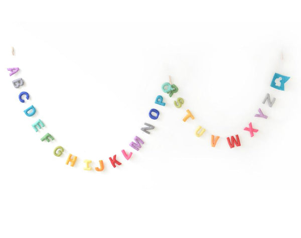 Alphabet Garland - Cloud Den - Tiny Paper Co. Afterpay Toy Store Australia