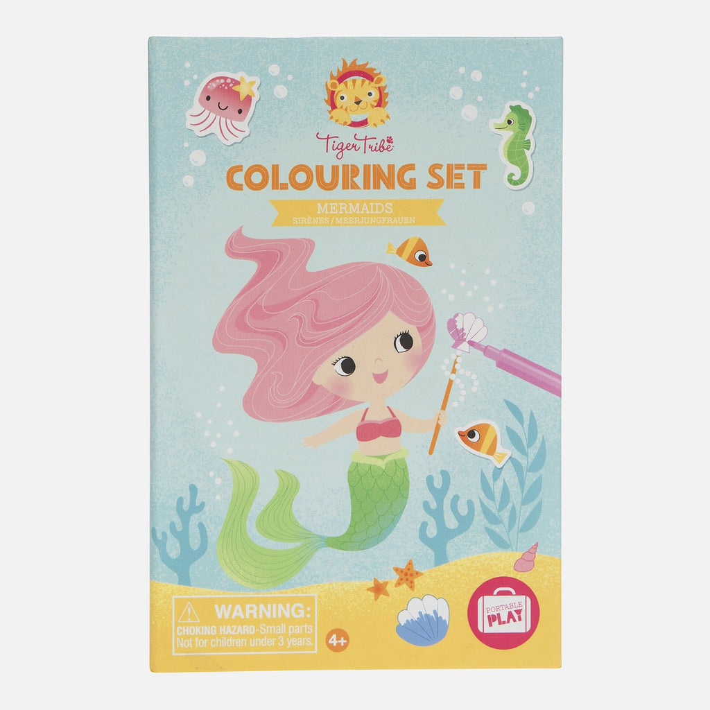 Colouring Set - Tiger Tribe - Tiny Paper Co. Afterpay Toy Store Australia