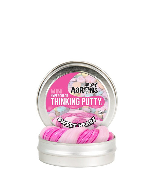 Sweet Heart Thinking Putty 2inch Tin - Crazy Aaron's - Tiny Paper Co. Afterpay Toy Store Australia