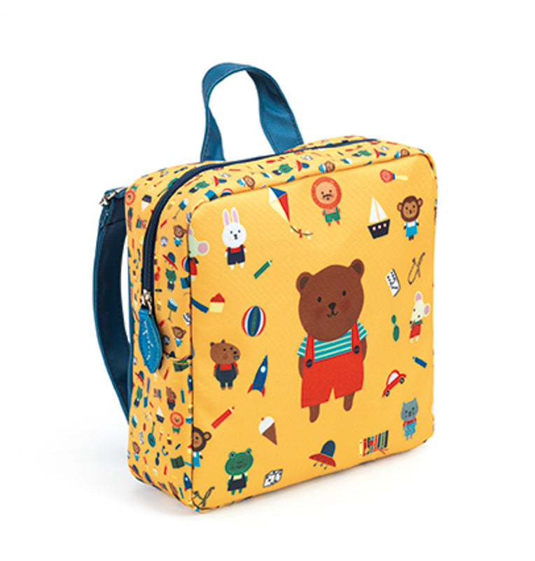 Preschool Back Pack Bear - Djeco - Tiny Paper Co. Afterpay Toy Store Australia