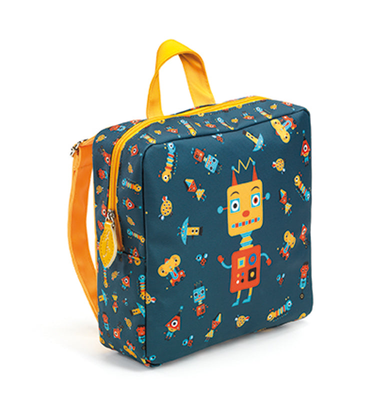 Preschool Back Pack Robot - Djeco - Tiny Paper Co. Afterpay Toy Store Australia