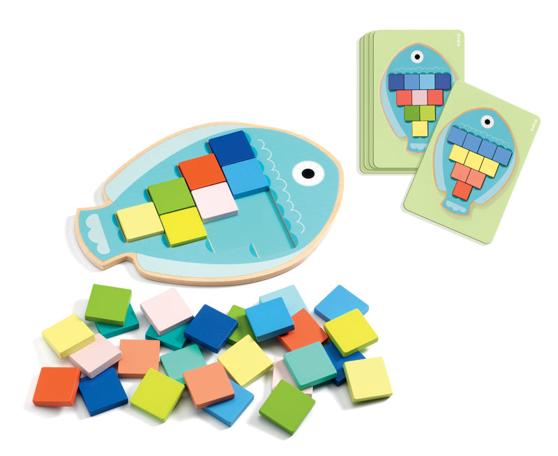 Mosa Colour Mosaic Fish - Djeco - Tiny Paper Co. Afterpay Toy Store Australia