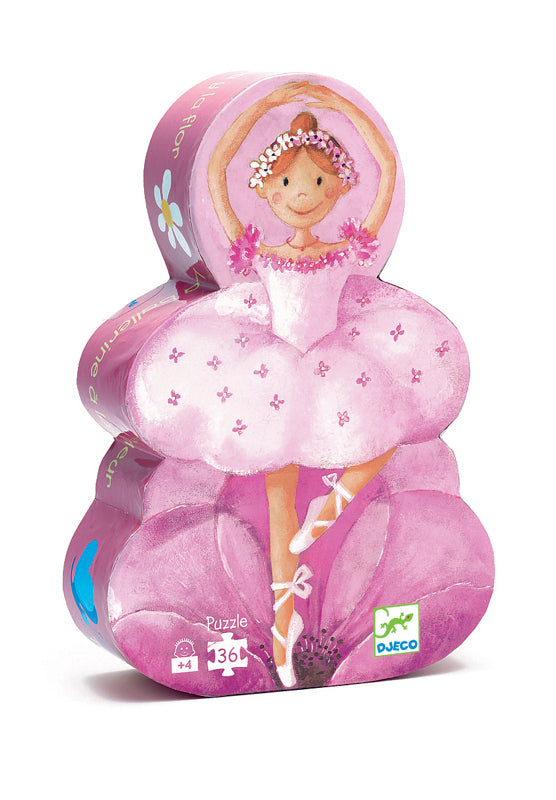 Ballerina Shaped Puzzle 36pc - Djeco - Tiny Paper Co. Afterpay Toy Store Australia