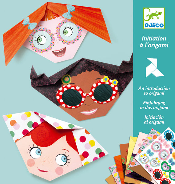 Pretty Face Origami - Djeco - Tiny Paper Co. Afterpay Toy Store Australia