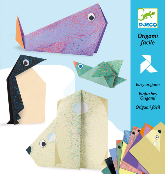 Polar Animal Origami - Djeco - Tiny Paper Co. Afterpay Toy Store Australia