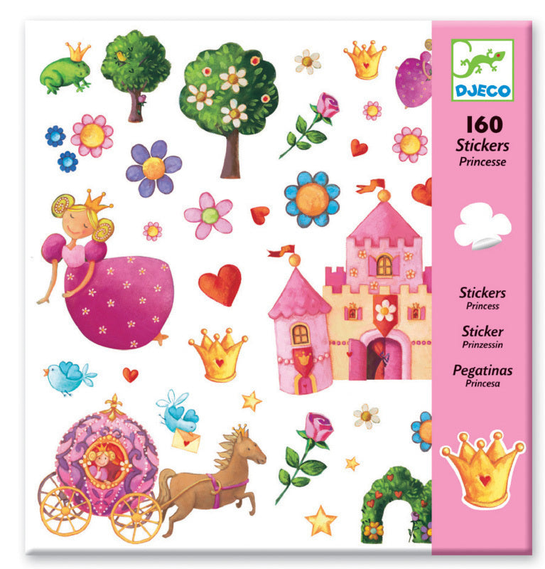 Princess Stickers - Djeco - Tiny Paper Co. Afterpay Toy Store Australia