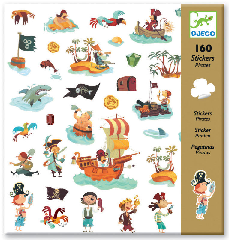 Pirates Stickers - Djeco - Tiny Paper Co. Afterpay Toy Store Australia