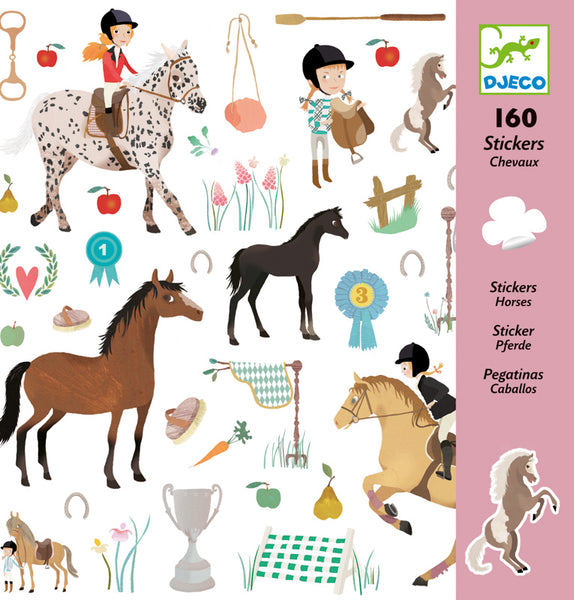 Horse Stickers - Djeco - Tiny Paper Co. Afterpay Toy Store Australia