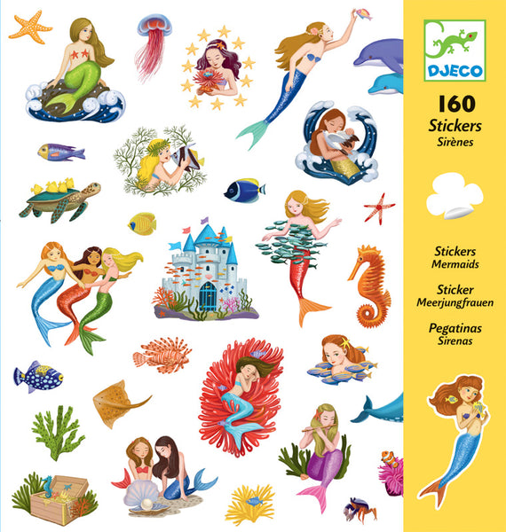 Mermaids Stickers - Djeco - Tiny Paper Co. Afterpay Toy Store Australia