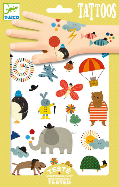 Pretty Little Things Tattoo - Djeco - Tiny Paper Co. Afterpay Toy Store Australia