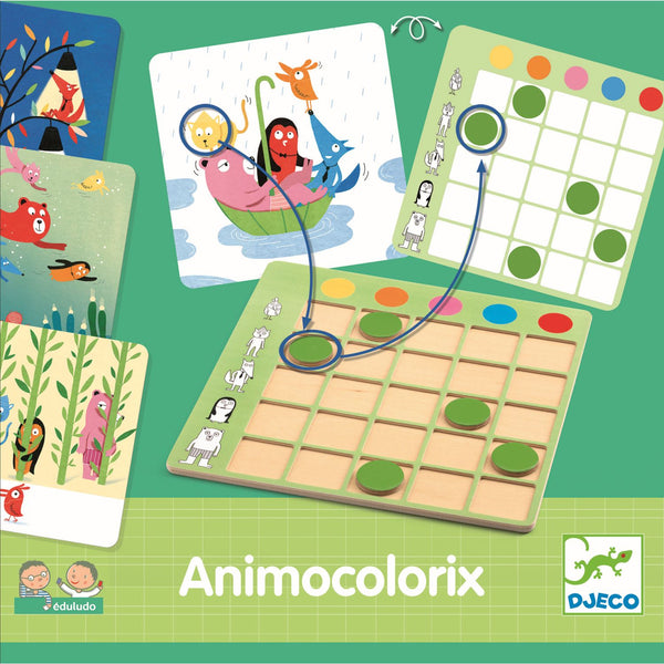 Animo Colorix Eduludo - Djeco - Tiny Paper Co. Afterpay Toy Store Australia