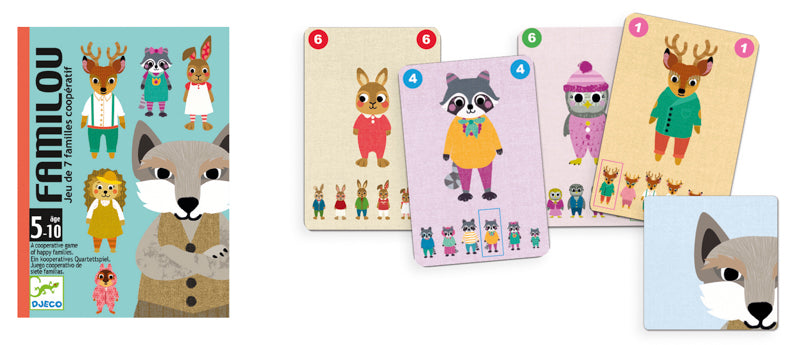 Familou Card Game - Djeco - Tiny Paper Co. Afterpay Toy Store Australia