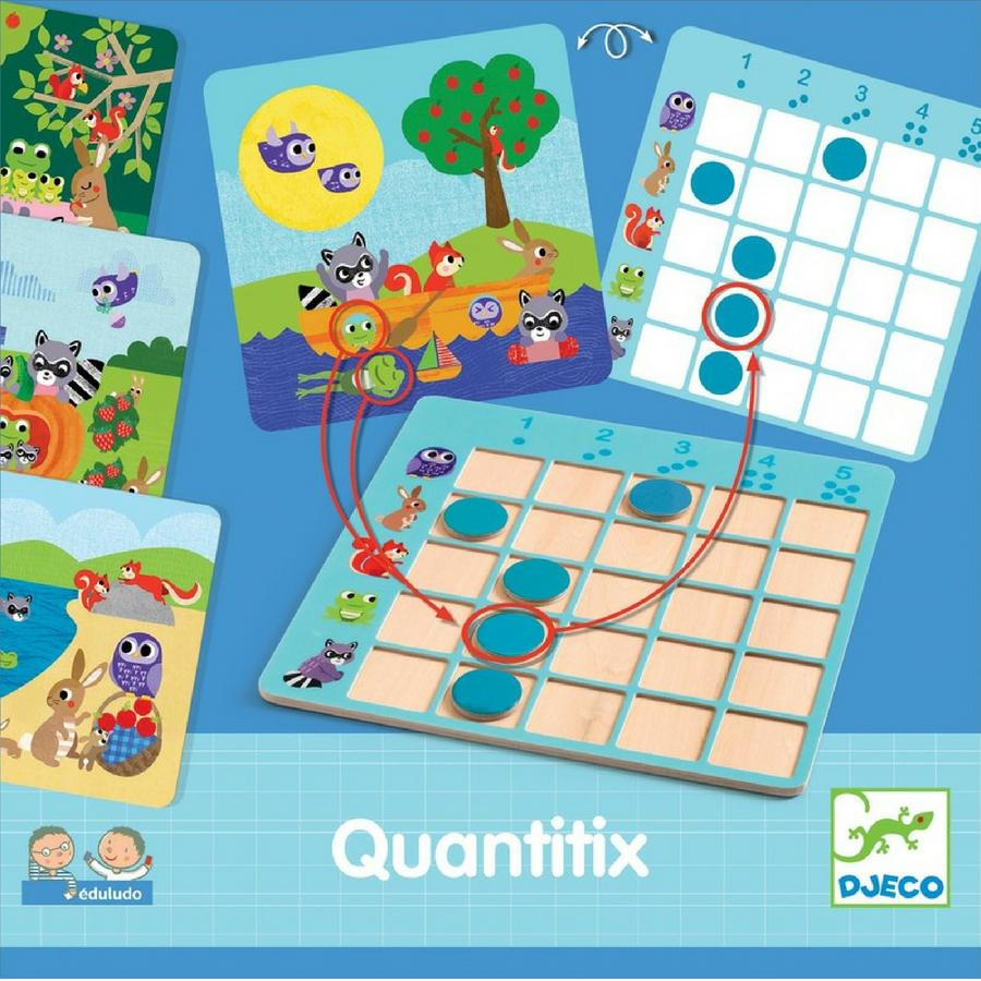 Quantitix Eduludo - Djeco - Tiny Paper Co. Afterpay Toy Store Australia