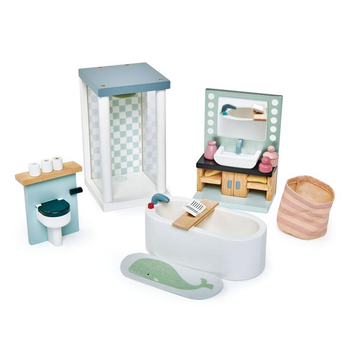 Dovetail Bathroom Set - Doll House Accessories - Tender Leaf Toys - Tiny Paper Co. Afterpay Toy Store Australia