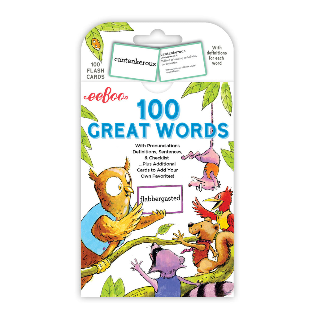 100 Great Words - eeBoo - Tiny Paper Co. Afterpay Toy Store Australia