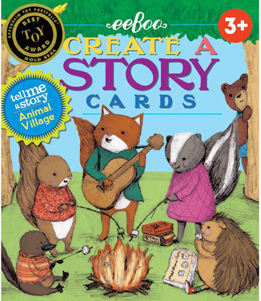 Create a Story Cards - Animal Village - eeboo - Tiny Paper Co. Afterpay Toy Store Australia