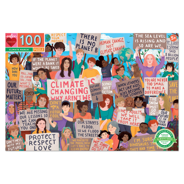 Climate March 100pc Puzzle - eeBoo - Tiny Paper Co. Afterpay Toy Store Australia
