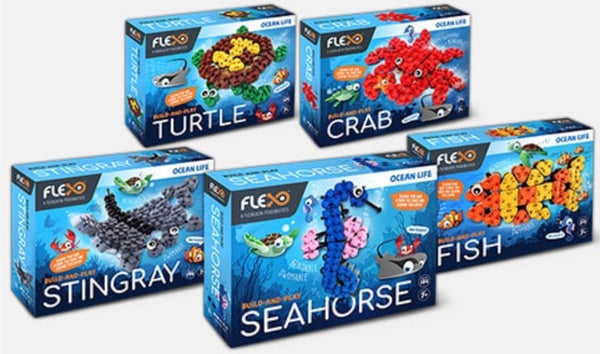 Flexo Flexible Brick System - Ocean Life Series - Flexo - Tiny Paper Co. Afterpay Toy Store Australia