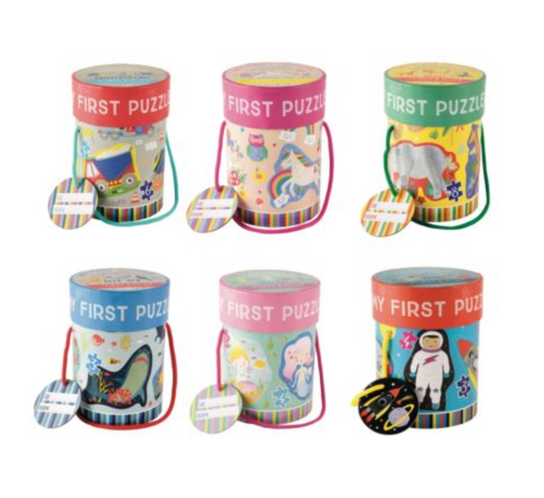 First Puzzles 4 in 1 - Floss and Rocks - Tiny Paper Co. Afterpay Toy Store Australia