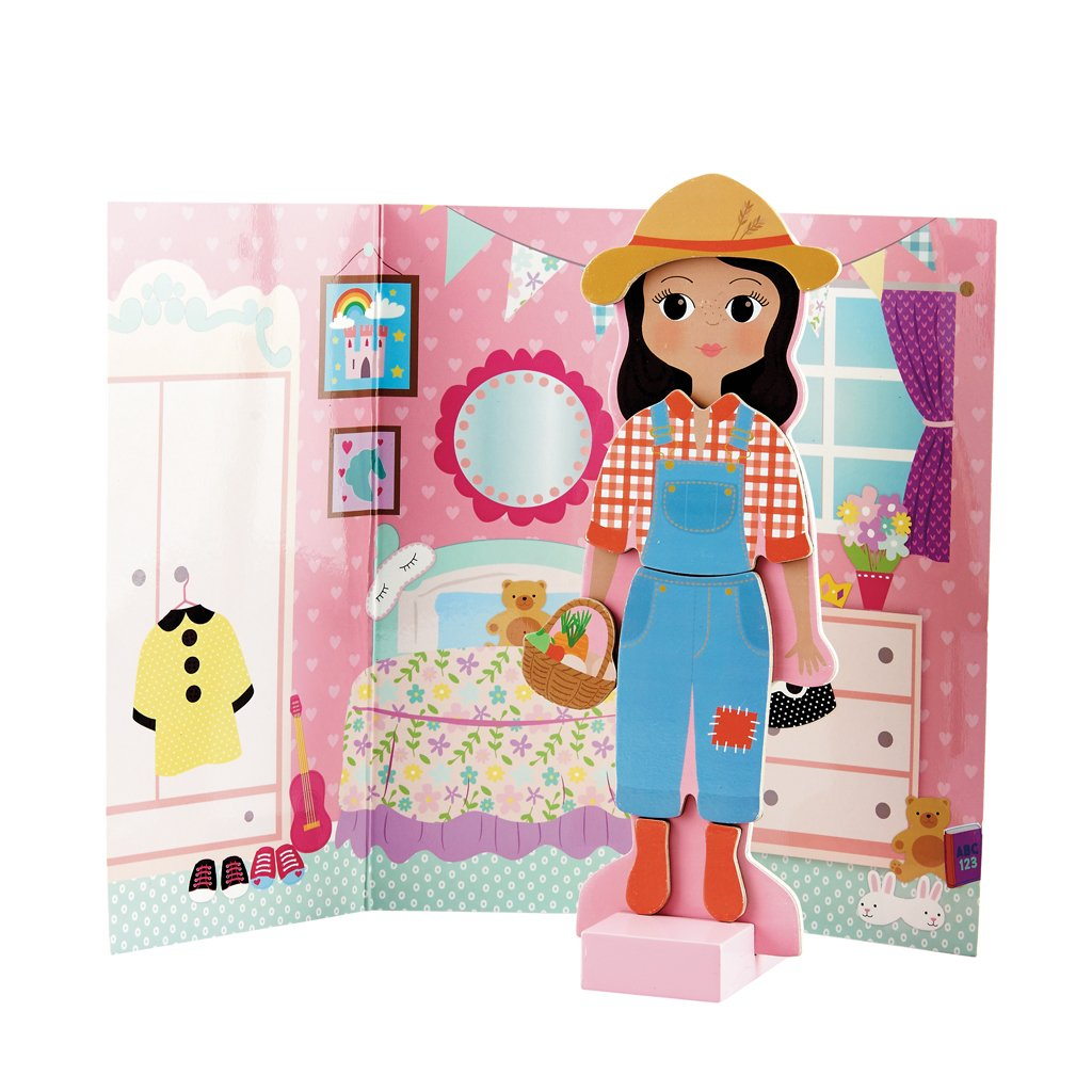 Magnetic Dress Up (Boy, Girl and Pet dog) - Floss and Rocks - Tiny Paper Co. Afterpay Toy Store Australia