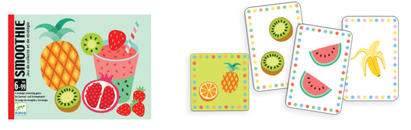 Game Card Smoothie - Djeco - Tiny Paper Co. Afterpay Toy Store Australia