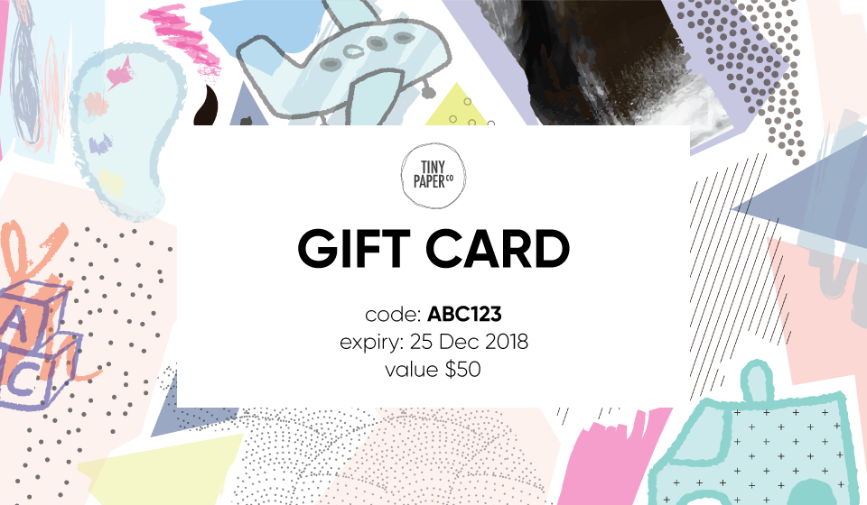 Tiny Paper Co. Gift Card - Tiny Paper Co. - Tiny Paper Co. Afterpay Toy Store Australia