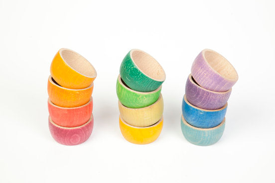 Grapat Coloured Bowls - Set of 12 - Grapat - Tiny Paper Co. Afterpay Toy Store Australia