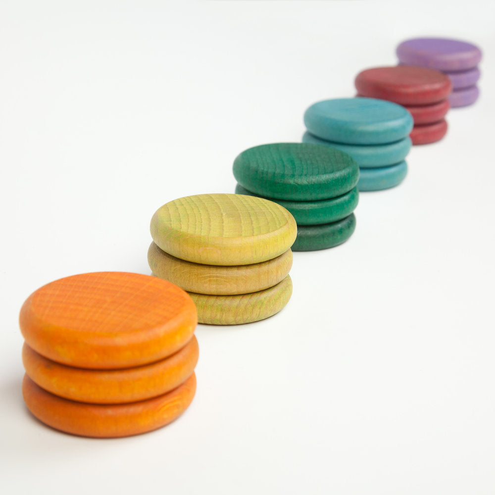 Grapat Coloured Coins - Grapat - Tiny Paper Co. Afterpay Toy Store Australia