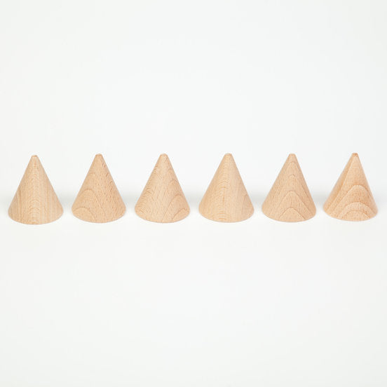 Grapat Natural Cones - Set of 6 - Grapat - Tiny Paper Co. Afterpay Toy Store Australia