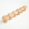 Grapat Natural Mushrooms - Set of 6 - Grapat - Tiny Paper Co. Afterpay Toy Store Australia