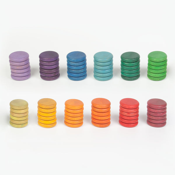 Grapat 12 coloured coins - Grapat - Tiny Paper Co. Afterpay Toy Store Australia