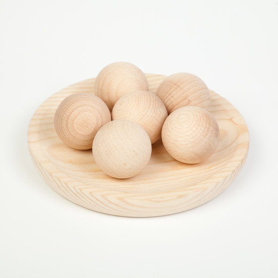 Grapat Natural Wooden Balls - Set of 6 - Grapat - Tiny Paper Co. Afterpay Toy Store Australia