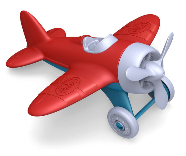 Red Airplane - Green Toys - Tiny Paper Co. Afterpay Toy Store Australia