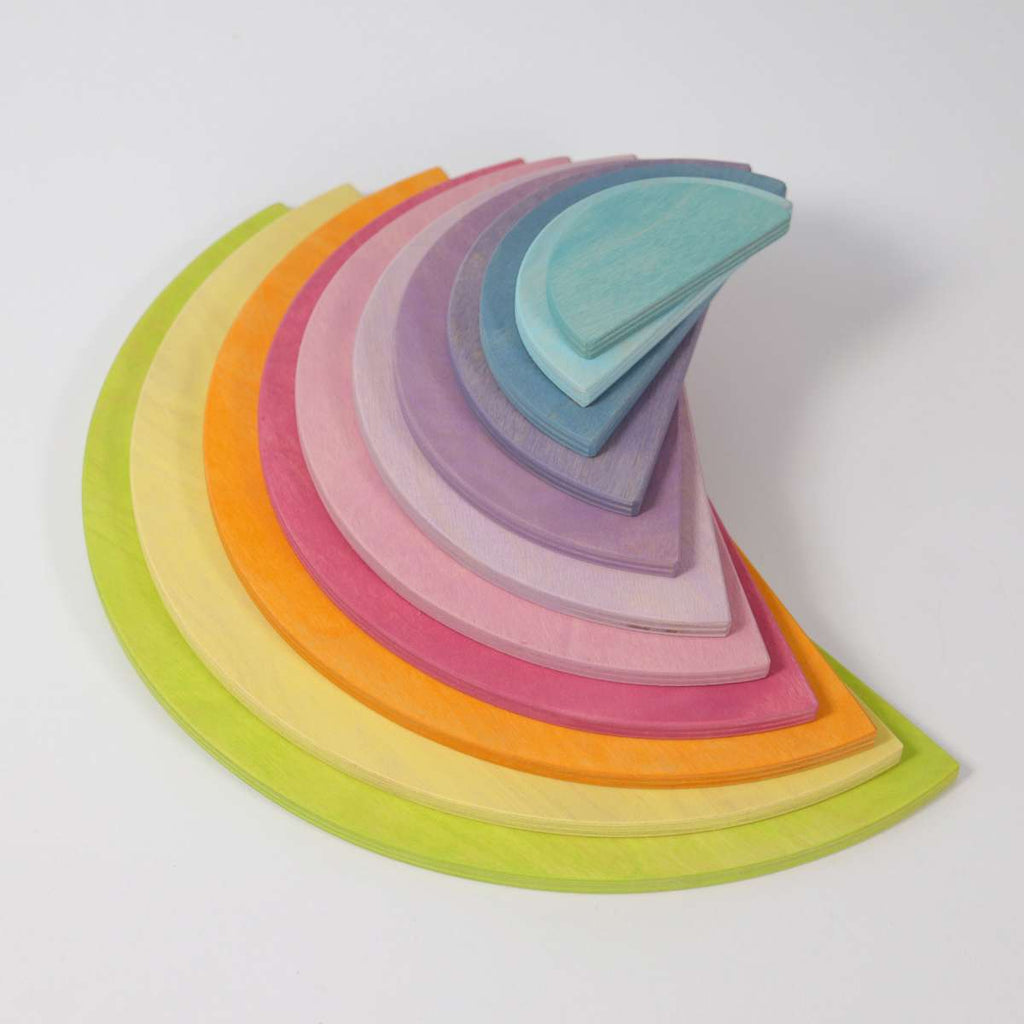 Grimm's Pastel Semi Circles New 2020 Range - Grimm's Spiel and Holz - Tiny Paper Co. Afterpay Toy Store Australia