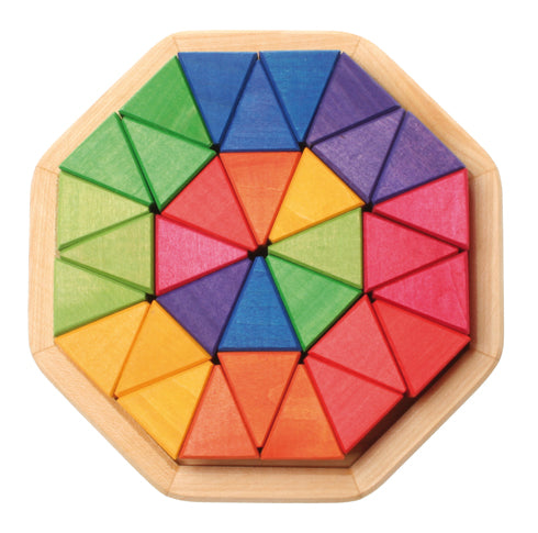 Grimm's Small Octagon 32pcs - Grimm's Spiel and Holz - Tiny Paper Co. Afterpay Toy Store Australia