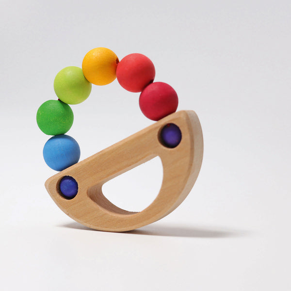 Grimm's Rainbow Boat Baby Rattle and Teether - Grimm's Spiel and Holz - Tiny Paper Co. Afterpay Toy Store Australia