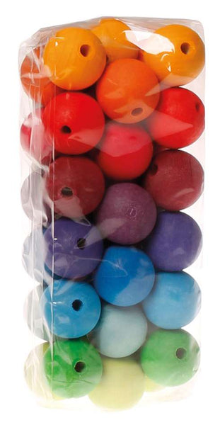 Grimm's 36 Coloured Beads 30mm - Grimm's Spiel and Holz - Tiny Paper Co. Afterpay Toy Store Australia