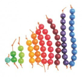 Grimm's Colourful Beads Stairs - Grimm's Spiel and Holz - Tiny Paper Co. Afterpay Toy Store Australia