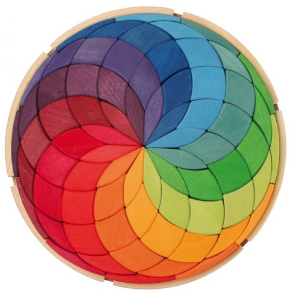 Grimm's Large Mandala Coloured Circle - Grimms - Tiny Paper Co. Afterpay Toy Store Australia